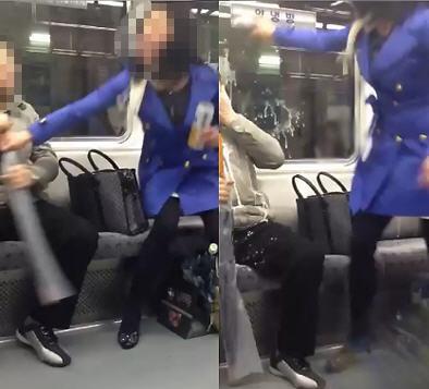 지하철 '담배녀'가 '맥주녀'로 돌아왔다