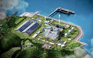 동부그룹이 민간 기업 최초로 짓고 있는 당진석탄화력발전소 조감도.