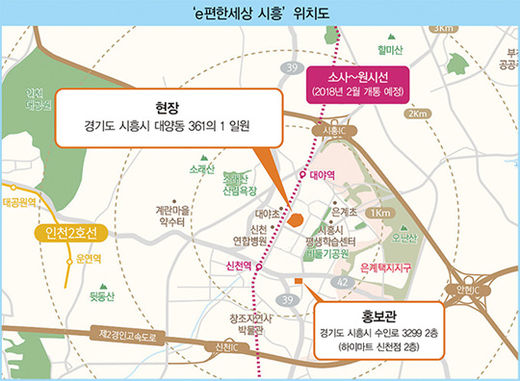 '시흥 역세권'에서 만나는 첫 'e편한세상'