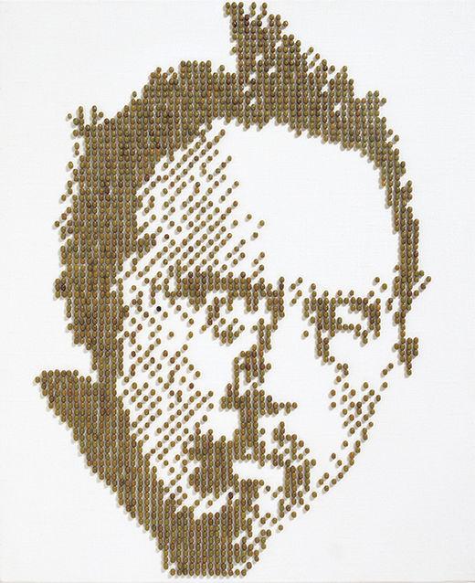 icon, 캔버스에 녹두, 45.5×38cm, 2003년