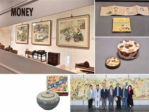 스페이스 씨 5층과 6층에 자리한 코리아나화장박물관은 한국의 전통 화장 문화를 소개하는 박물관이다. 상설전시와 기획전시를 통해 다양한 화장 용기, 화장 도구 등을 보여준다.(좌측) 전통 화장 용기와 화장 도구, 화장품들.(우측)대형 벽화'동서고금 화장하는 미인도