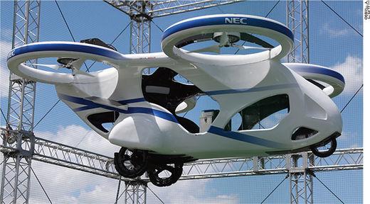 NEC, '플라잉카' 개발 성공…반도체·배터리 사업 접고 생체인식 기술 주력