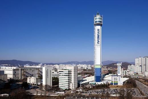 경기도 이천 현대엘리베이터 본사 전경. 현대엘리베이터는 충북 충주로 본사 이전을 추진 중이다.(/한국경제신문)