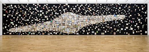 국립현대미술관, '2016 올해의 작가' 수상 기념전. 갤럭시(galaxy), 드로잉 1450여 점 가변 설치, 620×2700cm, 2016년