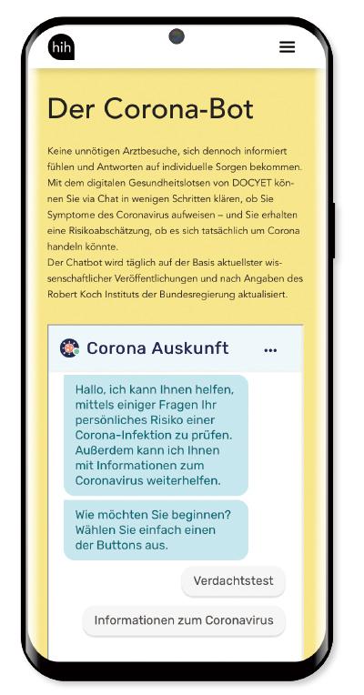 '코로나봇'을 운영하고 있는 건강 관리 앱 ADA.(/ADA)