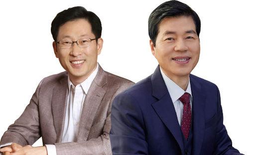 (사진) 김태한(오른쪽) 삼성바이오로직스 사장과 고한승 삼성바이오에피스 사장. /각 사 제공
