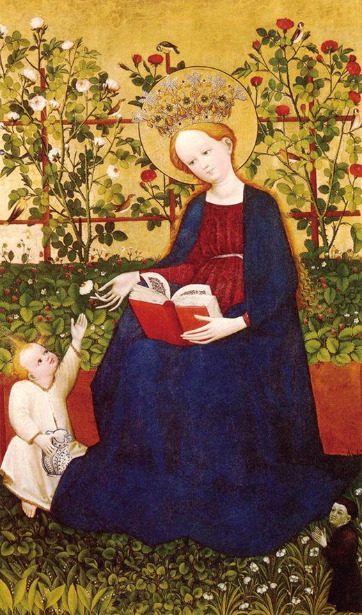 라인강 상류의 화가, 딸기의 성모, 1420~1430년경, 스위스 졸로투른 미술관