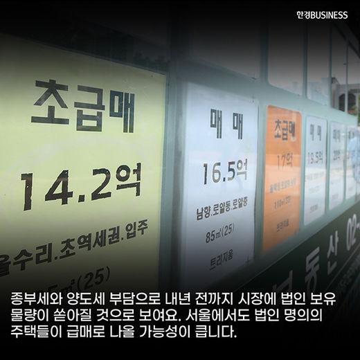 [카드뉴스] 급매부터 급급매까지…뒤숭숭한 부동산 시장