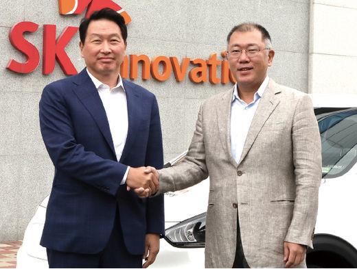 현대차-SK 배터리 협력 논의…배터리 3사 회동 마쳐