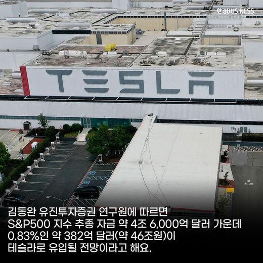 [카드뉴스] 테슬라 S&P500 지수 편입여부 22일 판가름, 46조 원 자금 유입 가능성