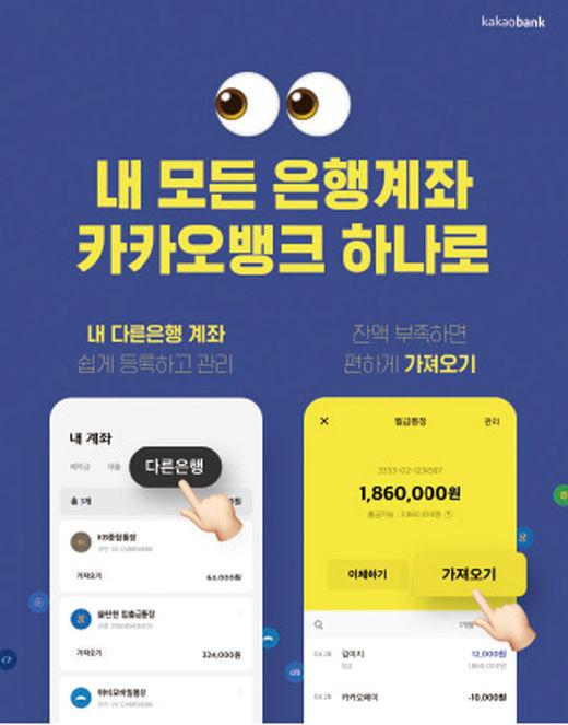 카카오뱅크, 오픈 뱅킹 서비스…앱 하나로 타행 계좌 관리도 'OK'