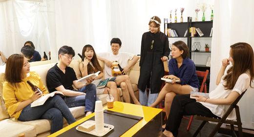 독서 모임 '트레바리'의 참석자들.