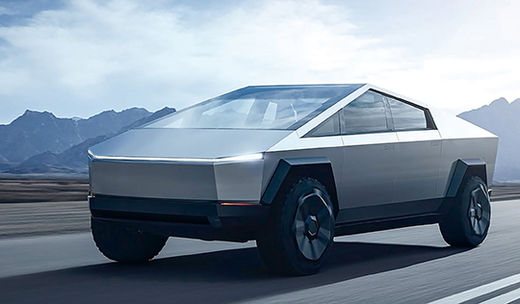 테슬라 사이버 트럭, '미래'와 만나다
