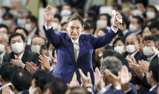 스가 요시히데 일본 관방장관이 9월 14일 도쿄 한 호텔에서 열린 집권 자민당 총재 선거에서 경쟁 후보들을 압도적인 표 차로 제치고 총재에 당선됐다. 연합뉴스