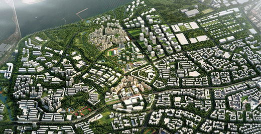 하늘에서 본 싱가포르.HDB 홈페이지 제공