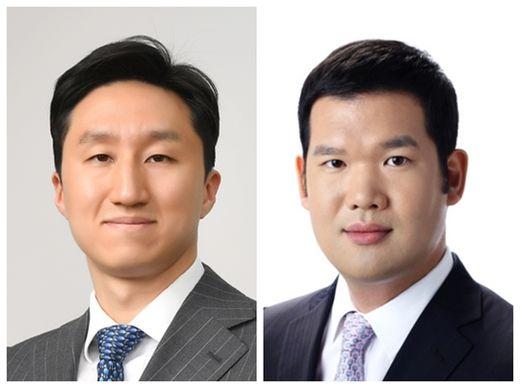 정기선 현대중공업지주 부사장(왼쪽)과 허윤홍 GS건설 사장. /한국경제신문