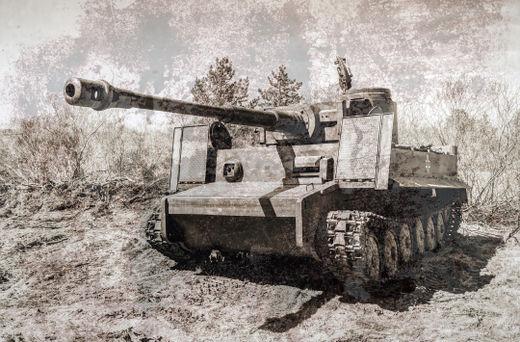 독일의 티거(Tiger) 전차.