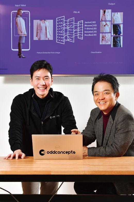 김정태(왼쪽) 대표와 이경전 교수/ 이승재 기자