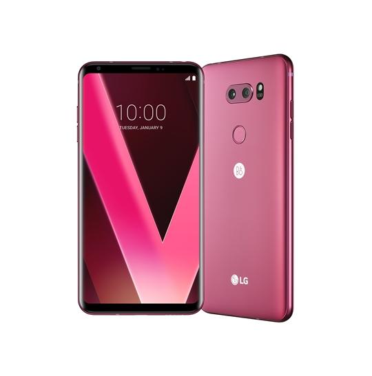 LG전자, LG V30 '라즈베리 로즈' CES 2018서 공개