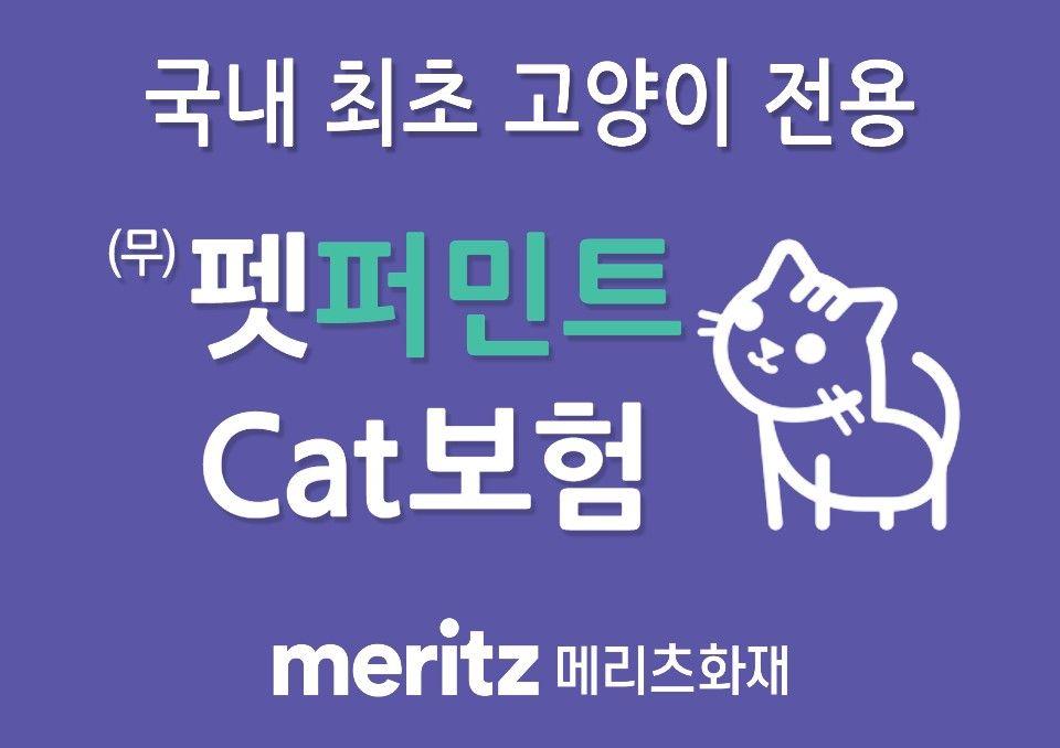 [2020 가족행복플랜] 메리츠화재 '펫퍼민트 Cat보험' 반려묘 의료비 평생 보장
