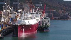 대우조선해양, 세계 최초 '선박 대 선박 LNG 선적 작업'